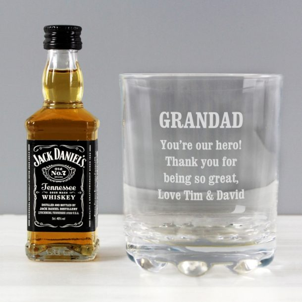 Personalised Tumbler & Jack Daniels Whiskey Set