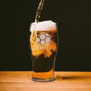 Personalised World Cup 2018 Tulip Pint Glass
