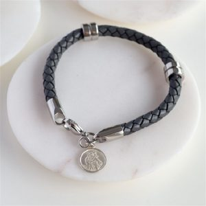 St Christopher Leather Bracelet