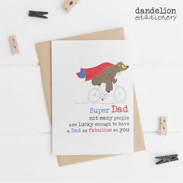 Super Dad Luxury Hand Finished Cards