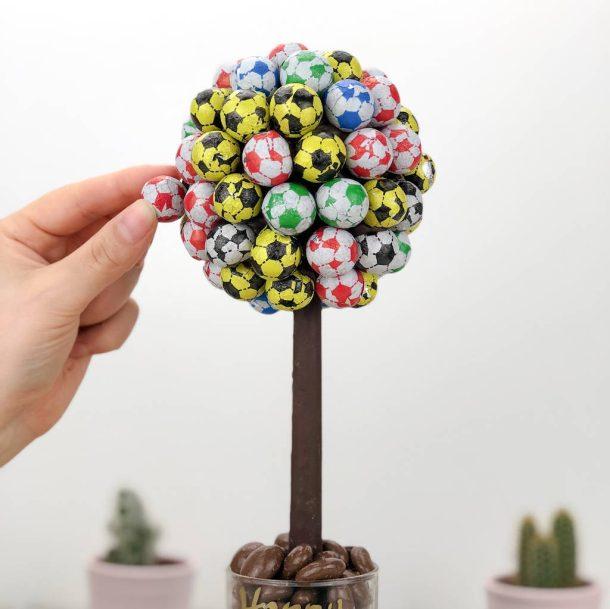 Personalised Football Sweet Trees