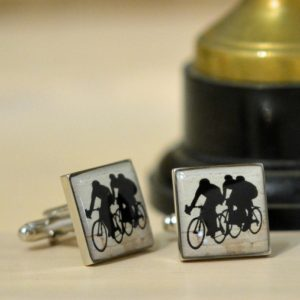 Enamel Cycling Cufflinks