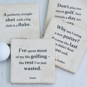 Famous Golf Quotes Set Of Coasters