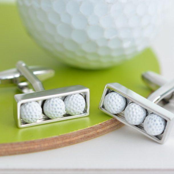 Golf Ball Cufflinks