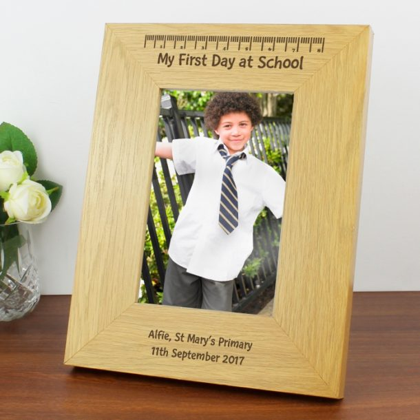 Personalised 4x6 My First Day At School Photo Frame