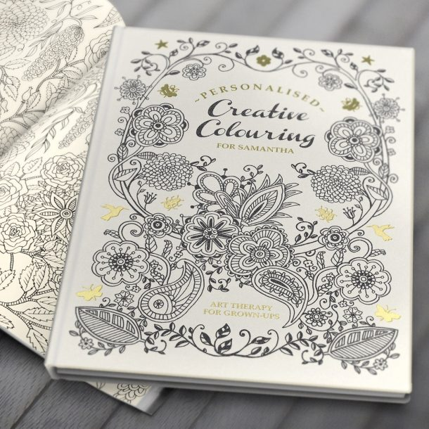 Personalised Adult Colouring Book - Hard Back