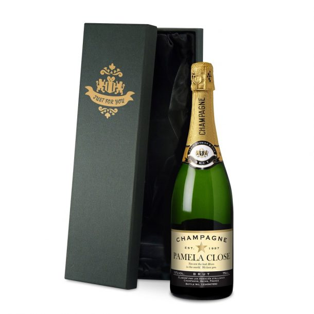 Personalised Authentic Star Champagne & silk lined Gift Box