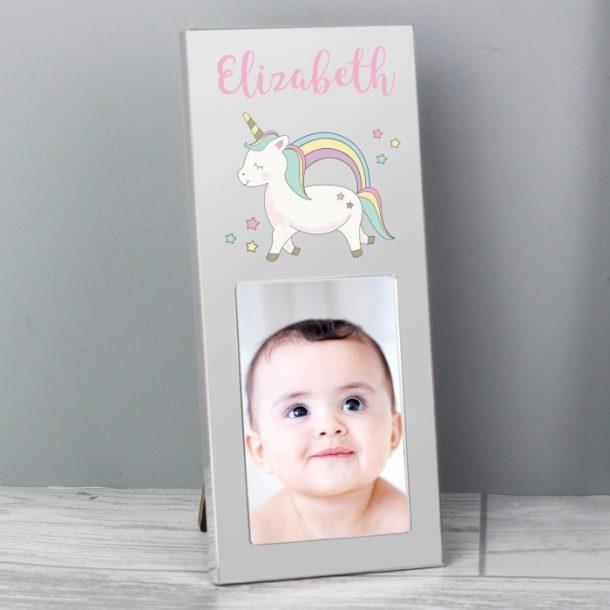 Personalised Baby Unicorn 2x3 Photo Frame
