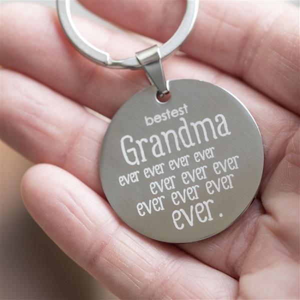 Personalised Bestest Grandma Keyring