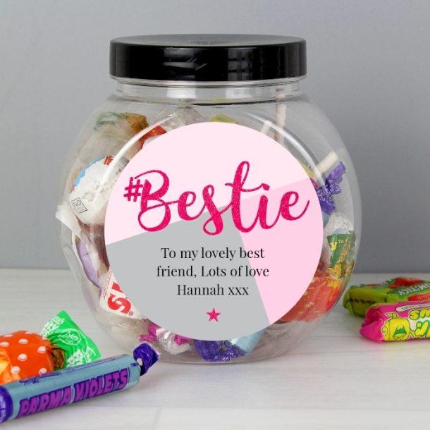 Personalised #Bestie Sweets Jar