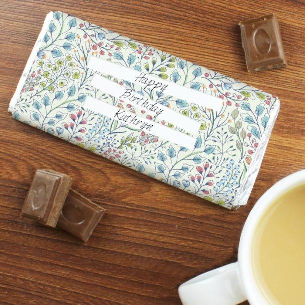 Personalised Botanical Chocolate Bar