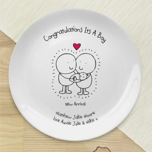 Personalised Chilli & Bubbles New Baby Plate