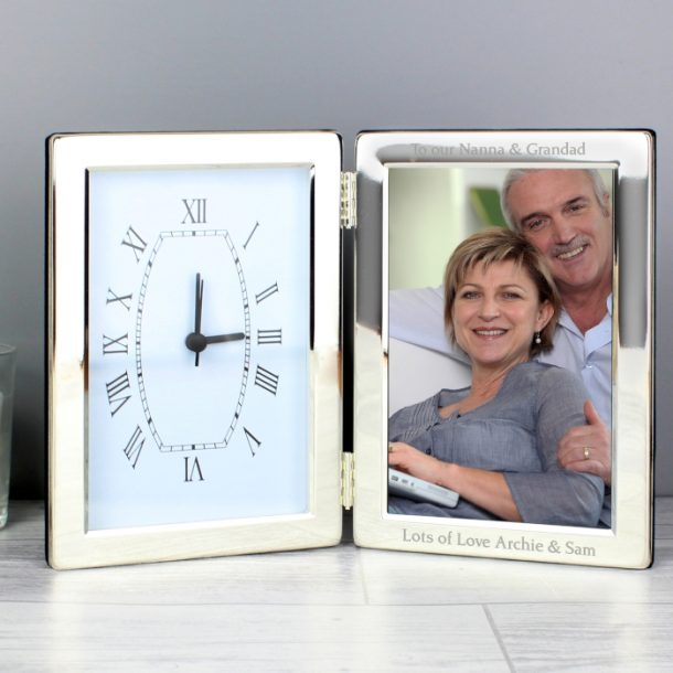 Personalised Clock & Photo Frame