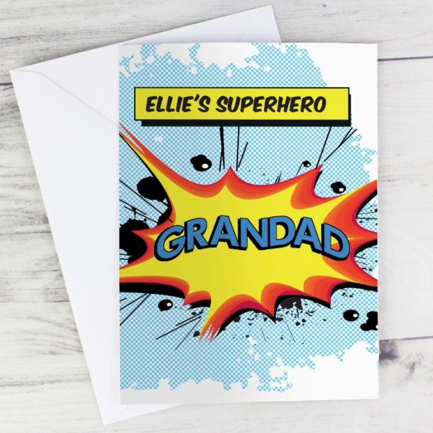 Personalised Comic Book Themed Cards