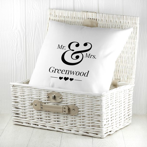 Personalised Couples Cushion Cover