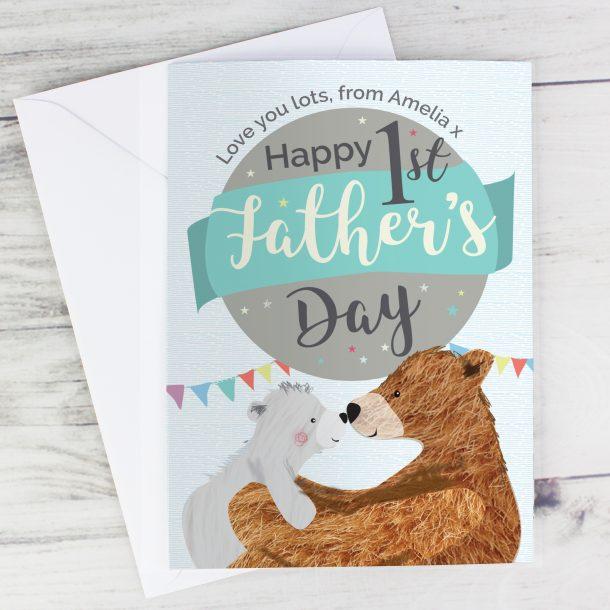 Personalised Daddy Bear Card