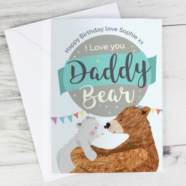 Personalised Daddy Bear Cards