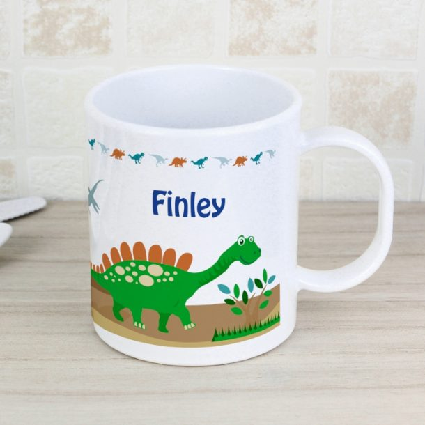Personalised Dinosaur Child's Plastic Mug
