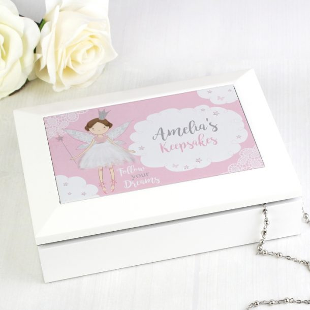 Personalised Fairy Princess Jewellery Box