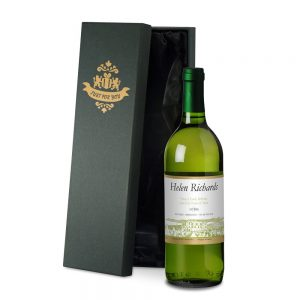 Personalised French White Wine & Silk Lined Gift Box