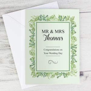 Personalised Fresh Botanical Cards
