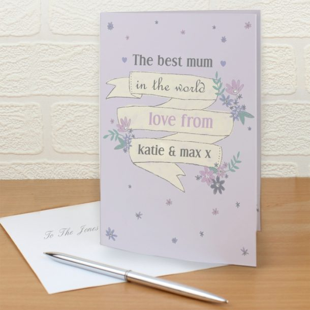 Personalised Garden Bloom Cards