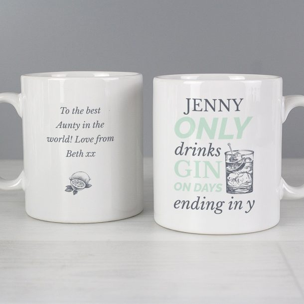 Personalised Gin Mug