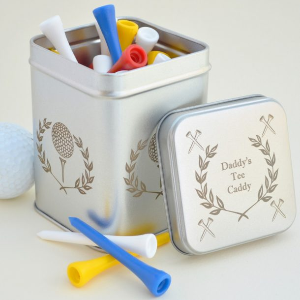 Personalised Golf Tee Caddy