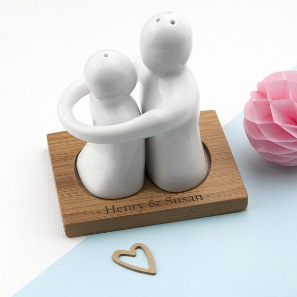 Personalised Hugging Salt & Pepper Set