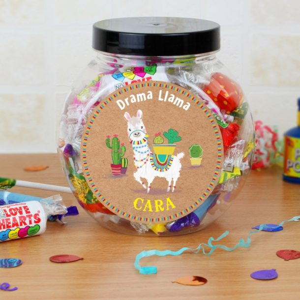 Personalised Llama Sweets Jar