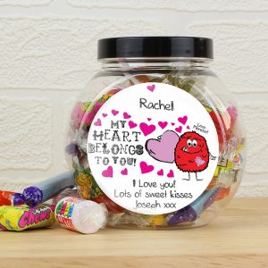 Personalised Love Monster Sweets Jar