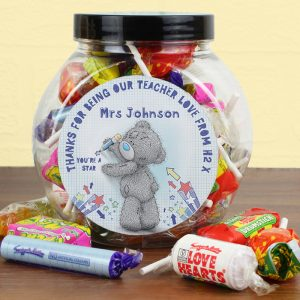 Personalised Me To You Teacher Sweet Jar