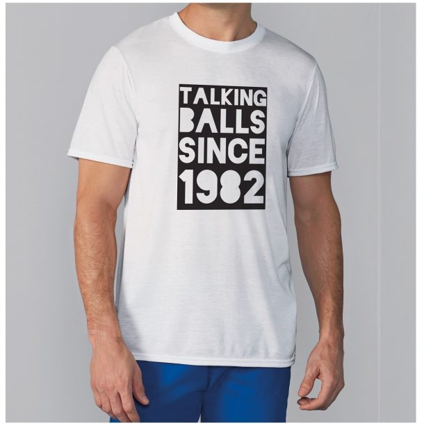 Personalised Men's Talking Balls Since T-Shirt