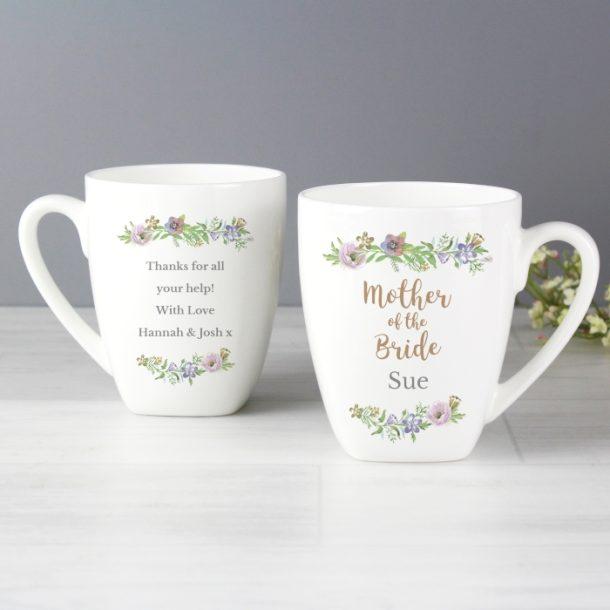 Personalised Mother of the Bride Latte Mug