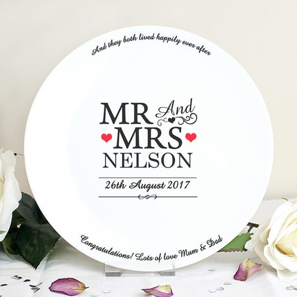 Personalised Mr & Mrs Plate