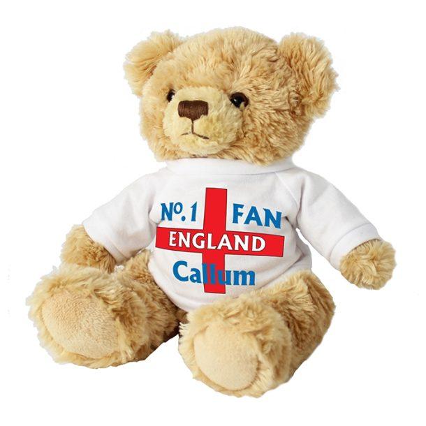 Personalised No1 England Fan Message Bear