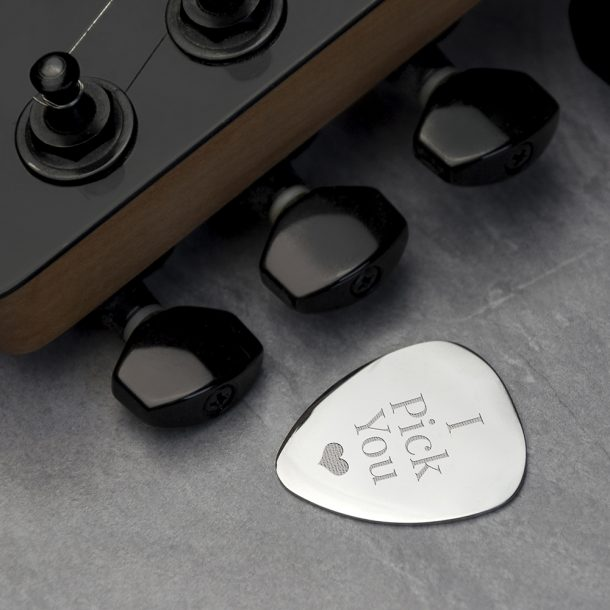 Personalised Plectrum - Exclusive Love Heart