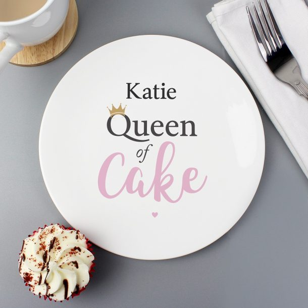 Personalised Queen of Cake Bone China Plate