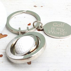 Personalised Spinning Golf Ball Keyring