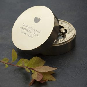 Personalised Sundial Compass – Exclusive Love Heart