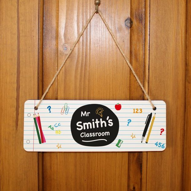 Personalised Teacher Hanging Sign