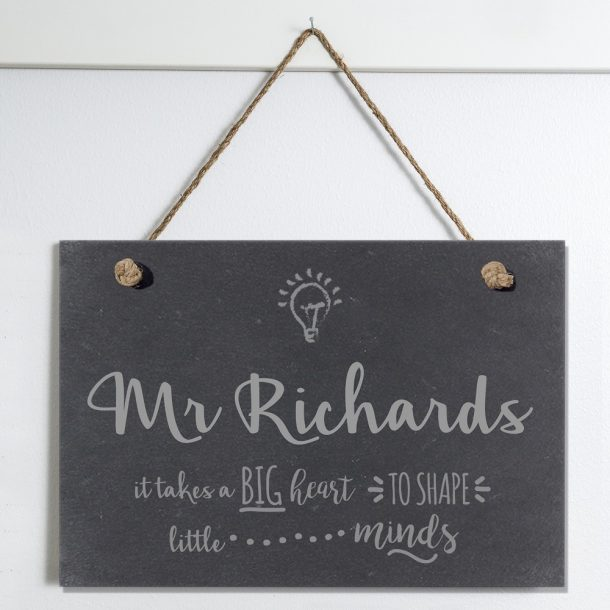 Personalised Teacher Slate Hanging Sign