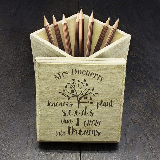 Personalised Teachers Plant Seeds Cube Box