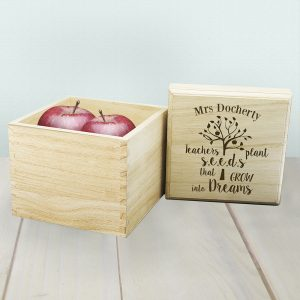 Personalised Teachers Plant Seeds Cube Box