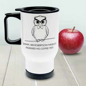 Personalised Teacher's Shhhh Travel Mug