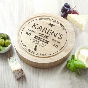 Personalised Traditional Brand Cheese Board Set