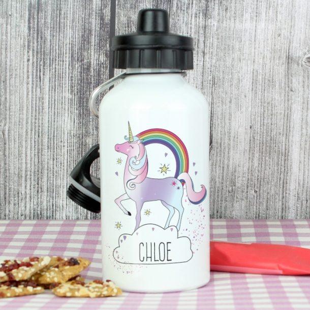Personalised Unicorn Drinks Bottle