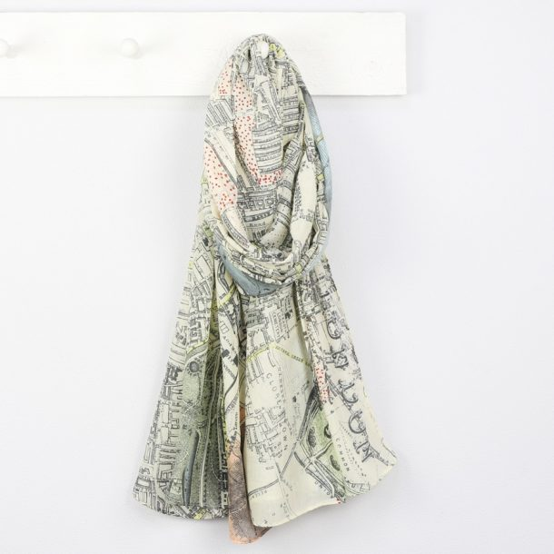 Personalised Vintage London Map Scarf