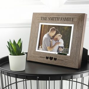 Personalised Walnut Photo Frame