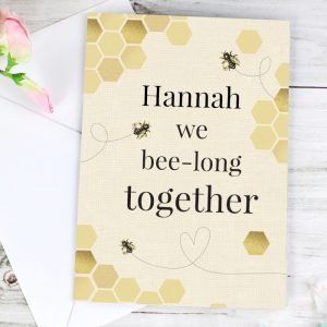 Personalised We Bee-Long Together Cards